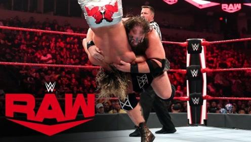 RAW1376期: 双打赛道夫齐格勒遭重型维京战士双人夹击