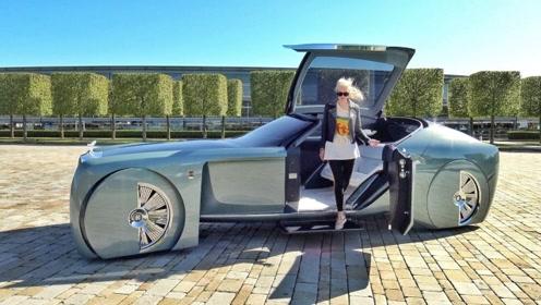 要不是看了女土豪的演示,这辆劳斯莱斯的车门你都打不开!