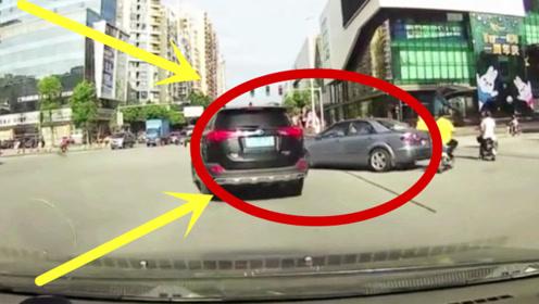 马自达女司机过马路太任性,路都不看就往前闯,不愧为女司机!