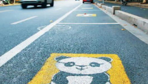 停车位画个熊猫啥意思?交警:停错扣3分罚200,别说没告诉你