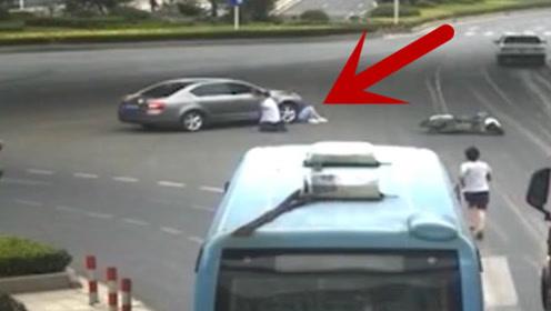 女子被轿车卷进车底,路人的反应刷新了我对国人的看法!