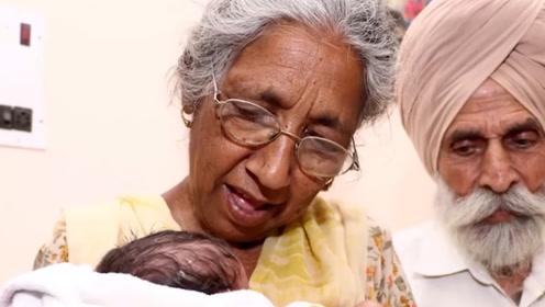 全球年纪最大的母亲,印度老奶奶73岁时生下一名男婴:很值得!