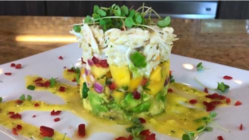 夏季沙拉食谱!大厨教你自制蟹肉鳄梨和芒果沙拉,好想吃一口