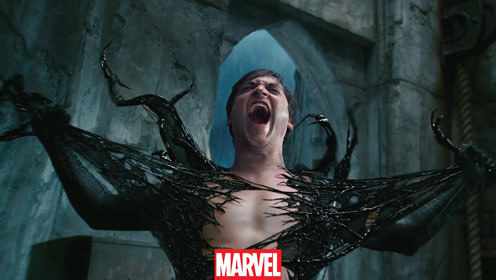 被毒液附身的蜘蛛侠有多残暴?直接把好基友毁容,挨刀子毫无感觉