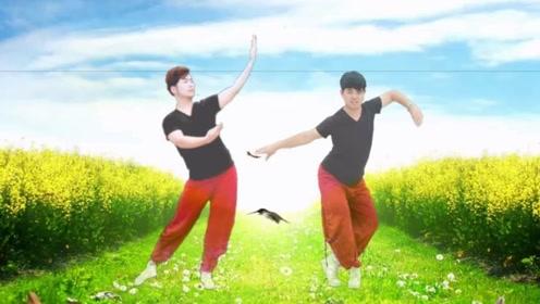 韦福强广场舞《空竹抖起来》斗笠舞加队形变换演示