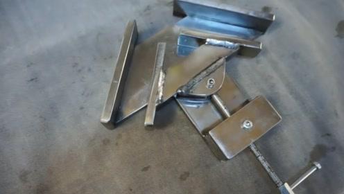 小伙自制直角焊接神器,轻松焊出标准90度,功能太强大了