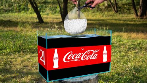老外作死实验:将零食放入纯净水里,结果竟然能瞬间喷发?