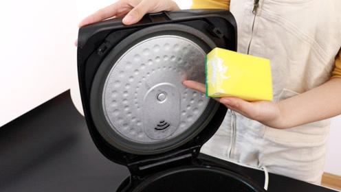 电饭锅里外全是脏东西,一个简单方法,10分钟就擦得洁净如新