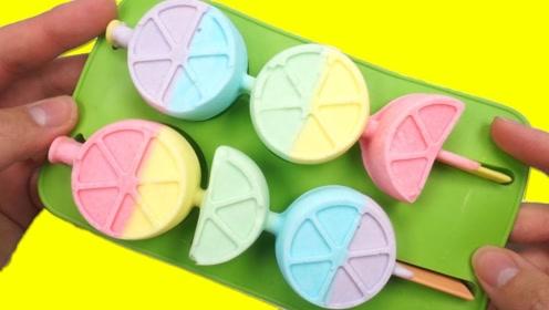 DIY彩虹雪糕:把牛奶倒入模具,转眼就变成了冰棍,太诱人了!