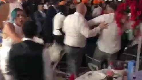 超大豪华婚礼变大型斗殴现场 宾客打到不可开交成新人噩梦