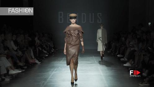 2019乌克兰时装周,BENDUS超模迷人演绎简约时尚
