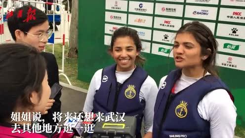 巴西亲姐妹齐上阵,11岁参加帆船比赛,去过近10个国家