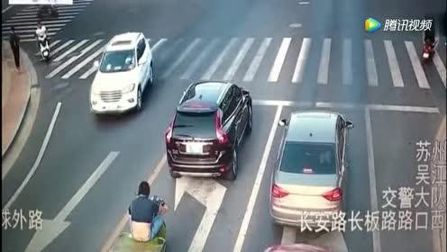 你能看清大爷是怎么摔倒的么,三轮车主摊上事了