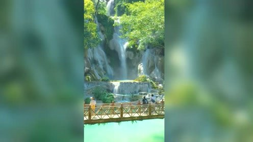 老挝版的九寨沟,国外竟也有仙境,世外桃源