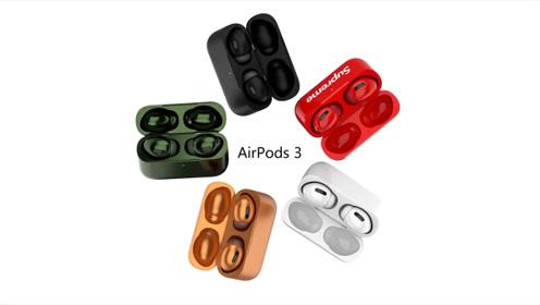 苹果AirPods 3 预告片曝光:入耳式设计,多种颜色可选!