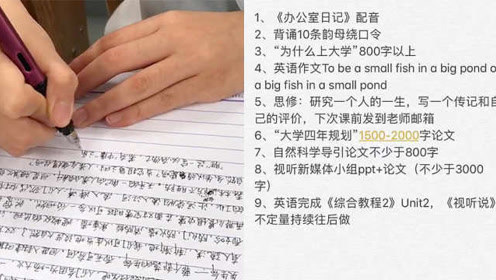 写作业大学!武大学生同时要做9门作业,学生:头都写秃了