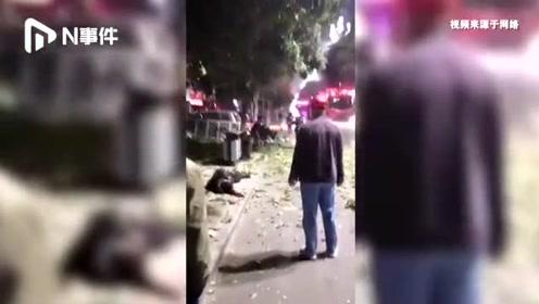 山东聊城凌晨一餐厅煤气泄露发生爆炸,致6人受伤,多车受损严重