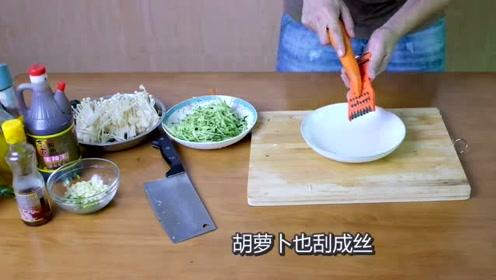 凉拌金针菇,不一样的口感,吃起来很酸爽!