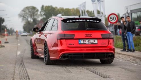 750匹马力的奥迪RS6,阿克拉波维奇排气,真好听!