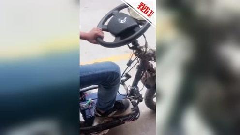 """小伙挑衅交警 骑改装车""""拉风""""驶过交警队 结果大快人心"""