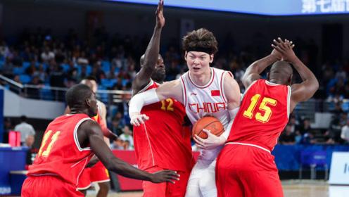 军运会中国VS刚果十佳球王哲林轻松过人双手暴扣