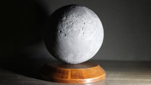 用石蜡做月球模型,这成品,看起来就跟真的月球缩小了一样