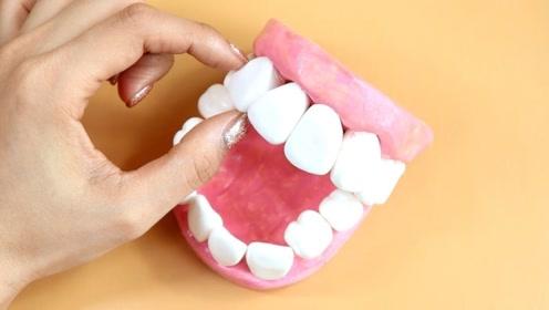 超搞笑的牙齿声控球,加入到水晶泥里,猜猜会变成什么样呢?