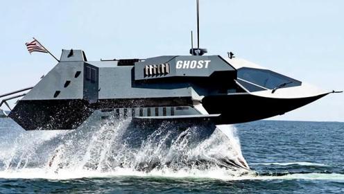 远超美国军舰!神秘富翁用10年建造隐身战船,航速达50节