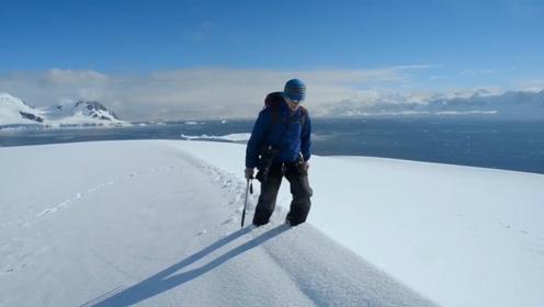 在南极厚厚的冰层下,居然藏着如此美景,网友:千万年一遇的景色