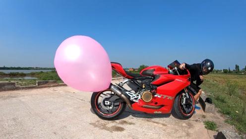 用排气管吹气球,外国人脑洞真是大