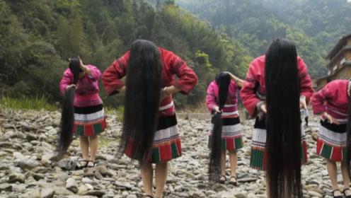 中国神秘长发部落,女人一生只剪一次,连脱发都要收集保存!