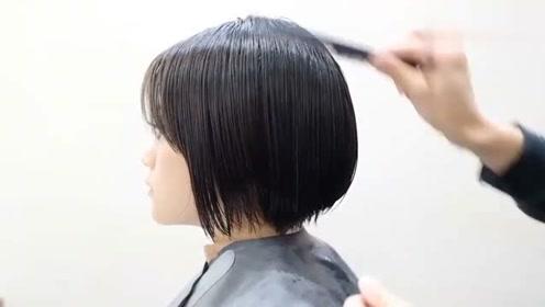 不烫不染很减龄的BOB短发:女生都喜欢这样剪