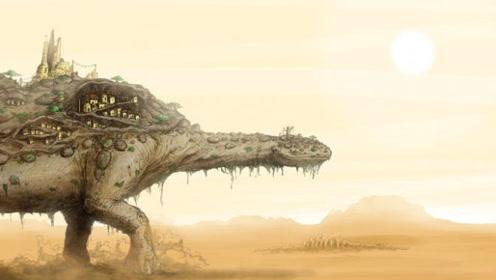 未来地球水资源枯竭,人类进化开启省水模式,寄居在怪兽背上偷生