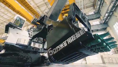 中国造超级挖掘机,一铲斗煤炭可装两节火车箱,年贡献3000万吨煤