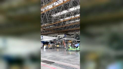 带你走进Gameco广州飞机维修中心,长见识了!