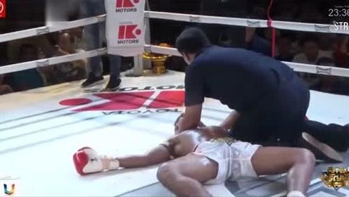 肘击飞膝高扫!这些泰拳KO太凶猛了!