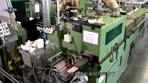 铅笔芯是怎么戳进木头中的?老外混进工厂实拍,原来真不是硬戳啊