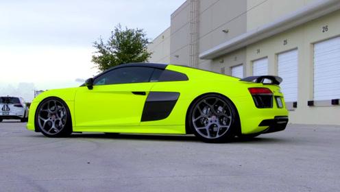 老外自称喷出了全球最亮的车,看完这颜色,我差点信了!