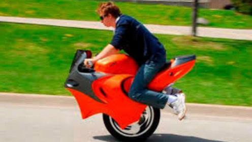 """美国发明""""会变形""""摩托车,独轮两轮任意切换,时速可达60公里"""