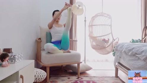没有空间练瑜伽?教你活用小空间,随时燃脂瘦身!
