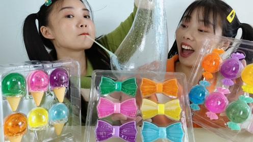 """好看冰淇淋能吹泡,俩闺蜜玩""""超级泡泡泥"""",开心超逗乐"""