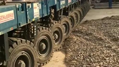 比火车还霸气!全车1080个轮子,是开车还是开轮胎?