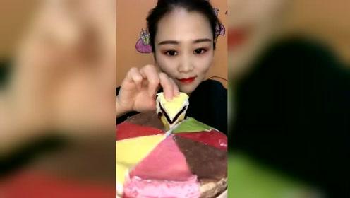 七色彩虹蛋糕,七种口味,你们有吃过的吗?