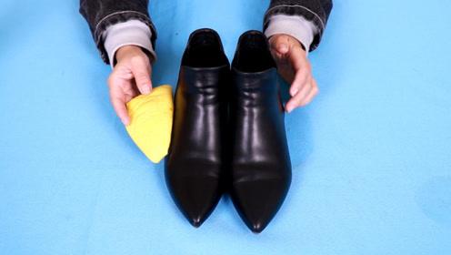 皮鞋脏了不用鞋油,只需找到一块水果皮,立马变锃亮如新