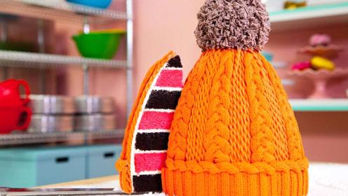 把蛋糕做成冬帽的造型,这创意我给100分