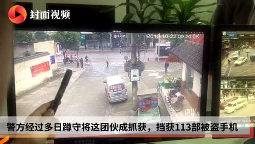 成都警方挡获113部被盗手机 失主都是因为扫码骑车被盯上