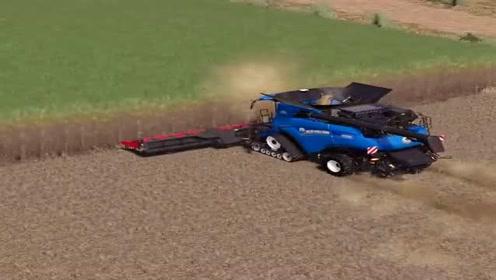 模拟驾驶:新型收割机收玉米,效率太高了,一天能干百亩地!
