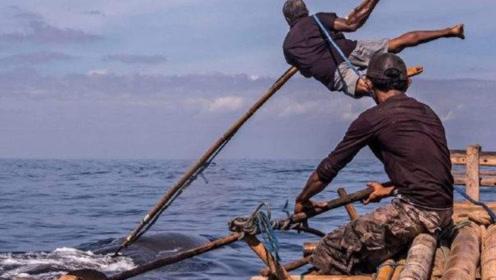 """全球最后的""""传统捕鲸人"""",一把鱼叉捕捉抹香鲸,镜头记录全程"""