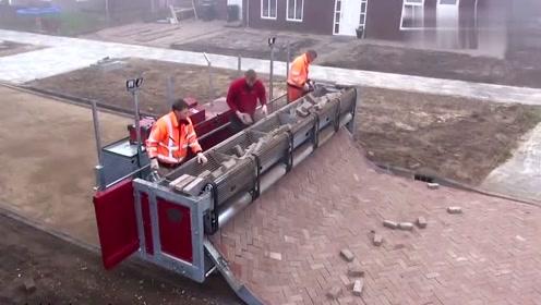 铺路砖还有这么先进的设备,德国机械果然名不虚传!
