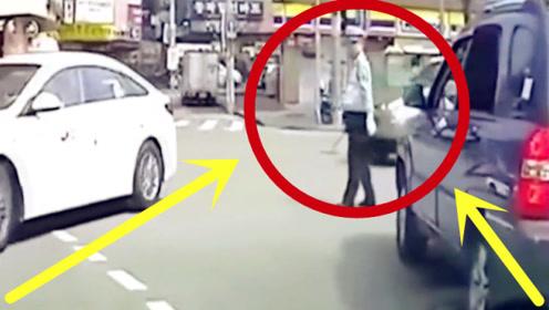 胆太肥了!男子酒驾遇执勤交警,一紧张竟直接碾了过去!